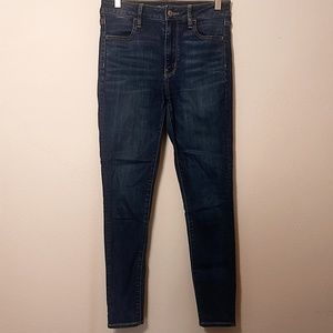 American Eagle Outfitters Jeans - American Eagle Dark Wash Super Hi-Rise Jegging - 2